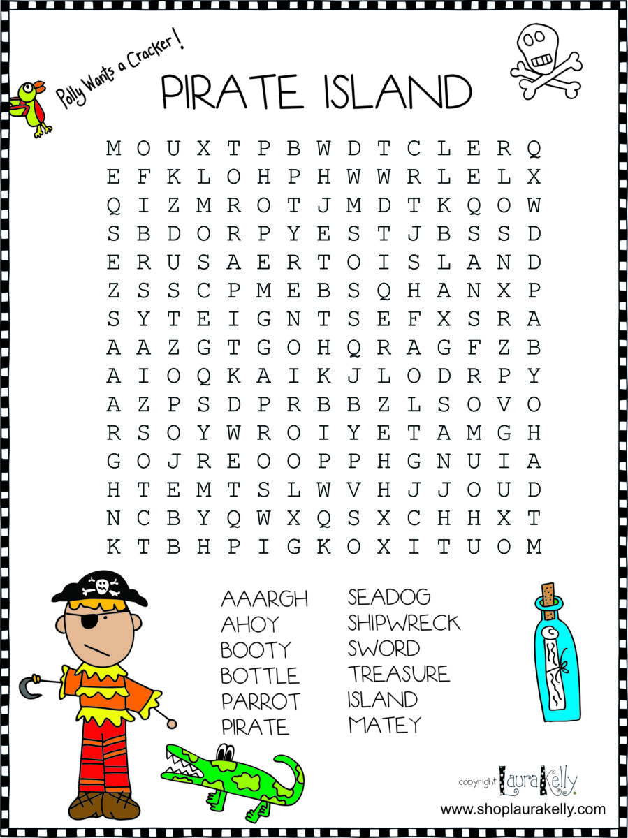 And now just for fun a few pirate puzzles you can purchase these on