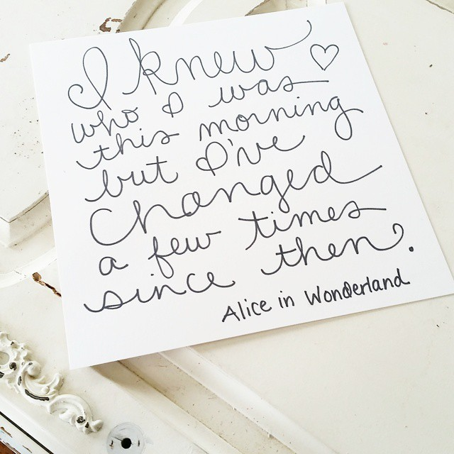 Okay, maybe more than a few. #aliceinwonderland #handlettering @tombowusa