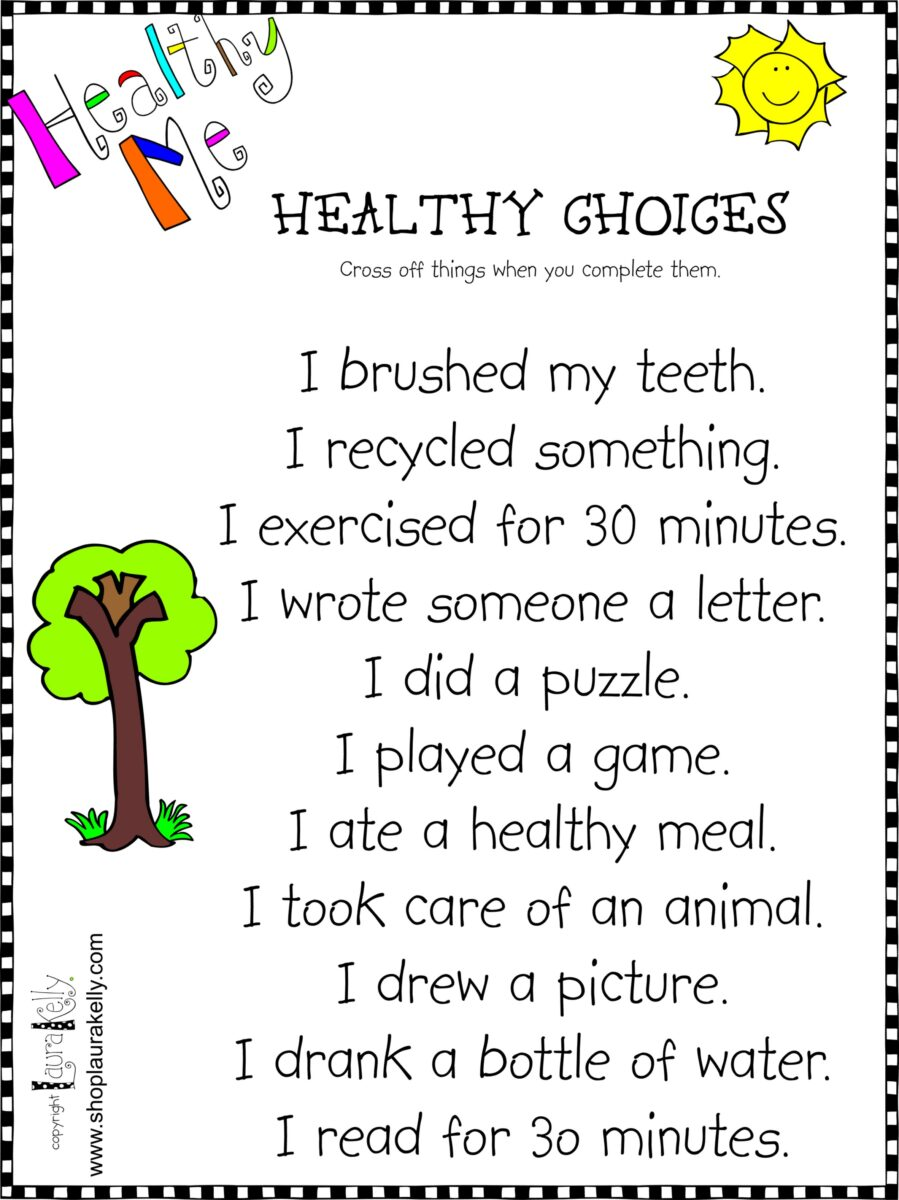 Healthy Me…Fun Ways for Kids to Express Their Healthiness
