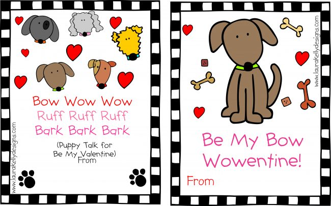 Valentine Printable Dog Puppy Valentines