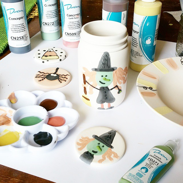 Because I woke up thinking about Halloween!!! ceramics iheartduncan duncanceramics