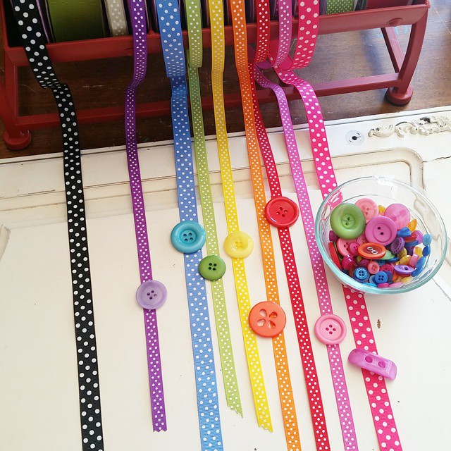 Not really sure what I love more...ribbon or buttons!? How…