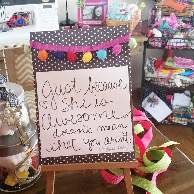 A little message from the sewing room... #weareallawesome #justbeawesome #awesome