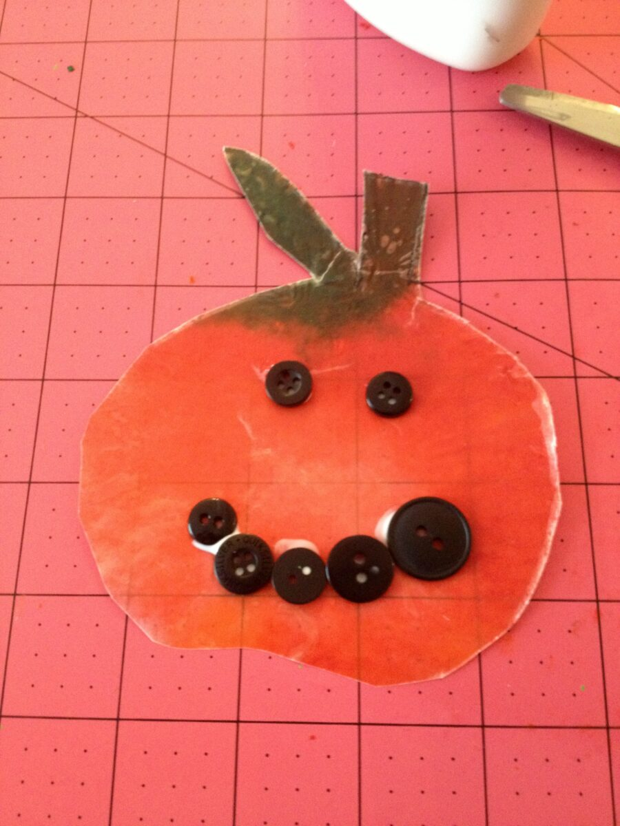 Decorating With Kids and Wax Paper Pumpkins