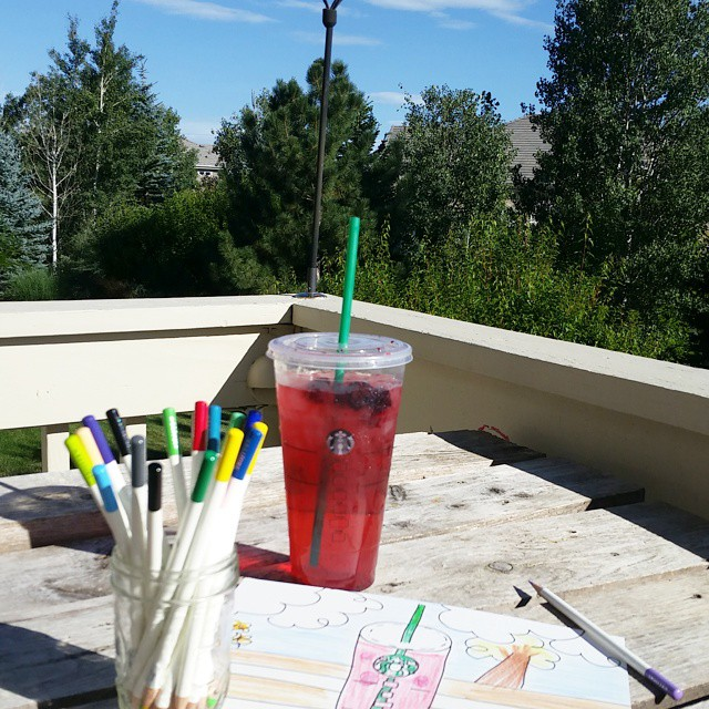 Oh summer I love you veryberry tombowusa starbucks doodle coloradoskyhellip