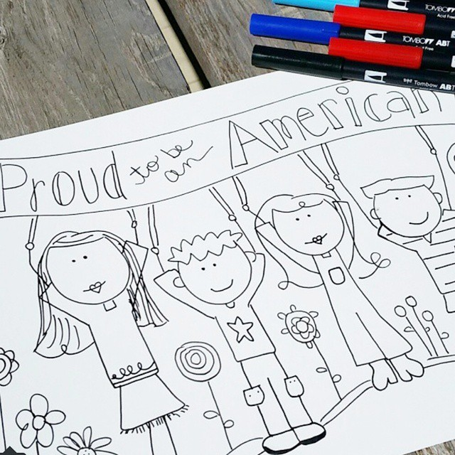 Proud to be an American! Free printable on the bloghellip