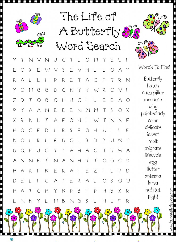 Butterfly - Word Searches - BigActivities