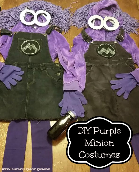 Here ...  sc 1 st  Laura Kellyu0027s Inklings & DIY Purple Minion Costumes from Despicable Me 2