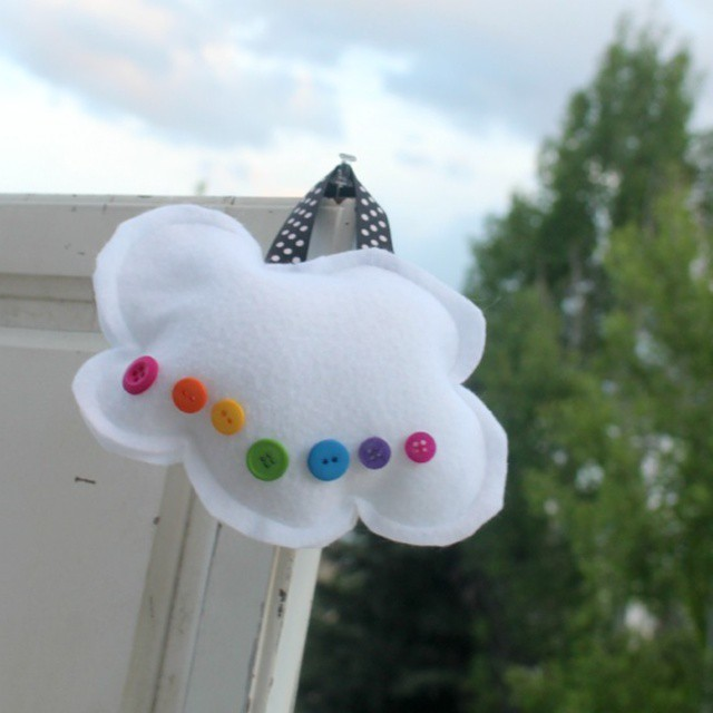 Little cloud with rainbow buttons... built these kits tonight and…