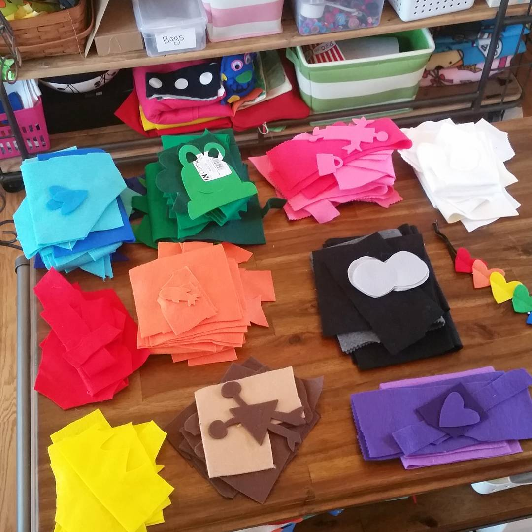 Organize felt scraps is this on anyone elses to dohellip
