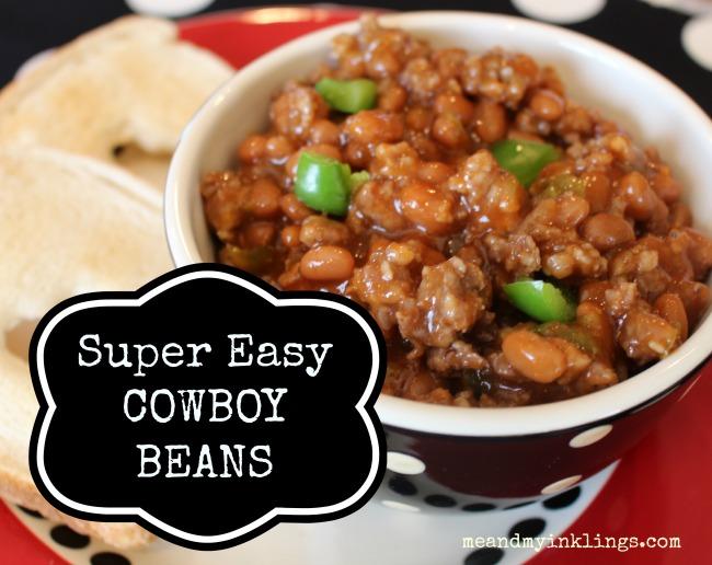 Cowboy Beans Label