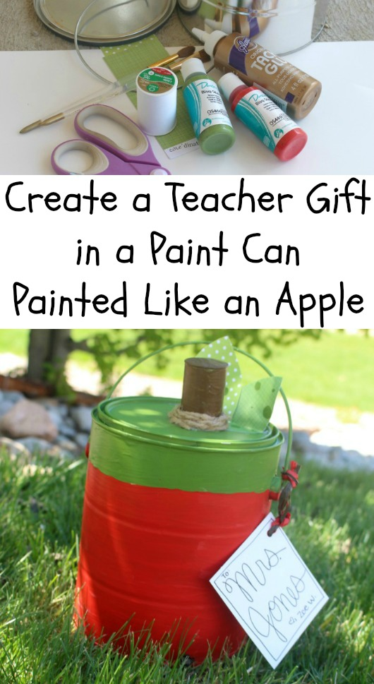 Paint Can Turned into Apple Gift Container