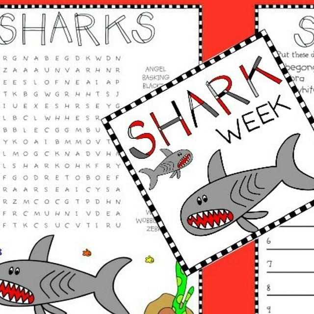FREE Shark Week printables on the blog waiting to behellip
