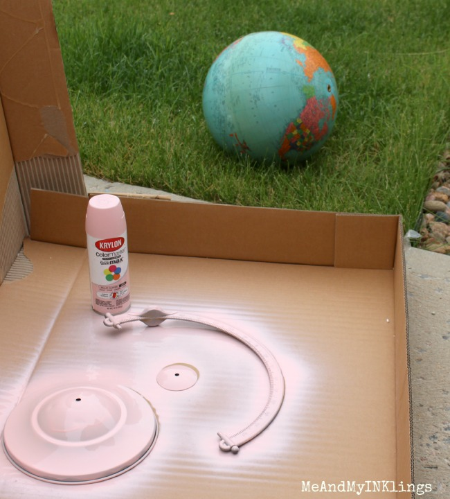 Krylon Paint Globe Parts