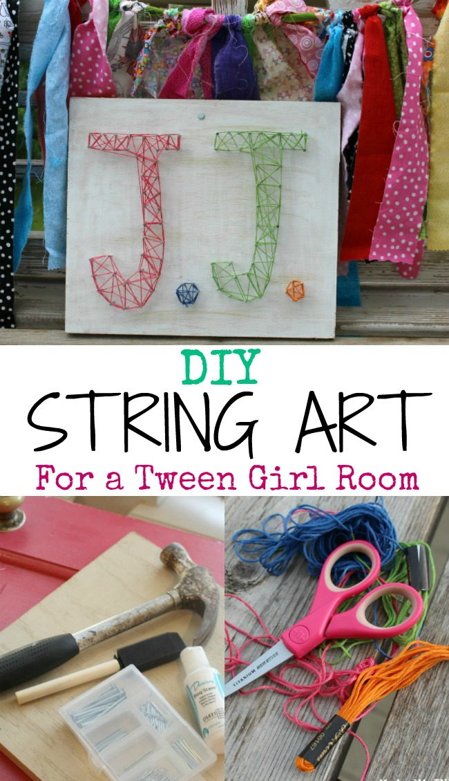 String Art for a Tween Bedroom With Easy Directions