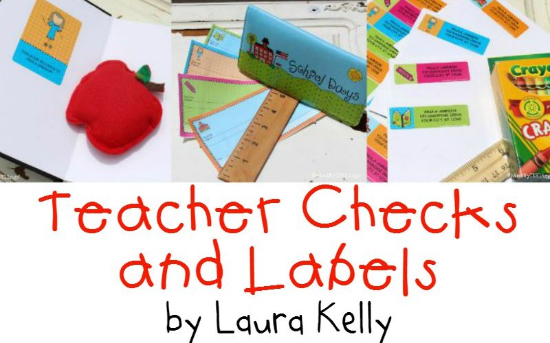 Laura Kelly Designs New Teacher Checks and Labels