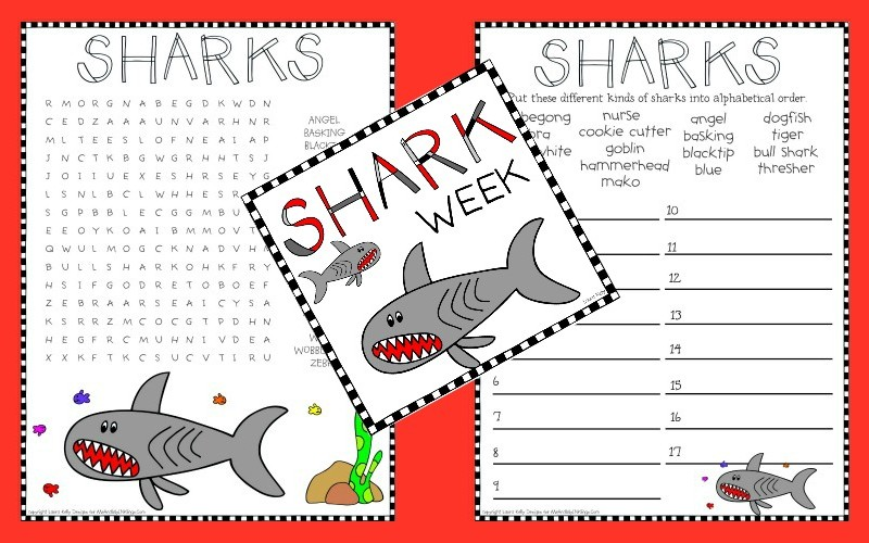 Shark Week Activities for Learning