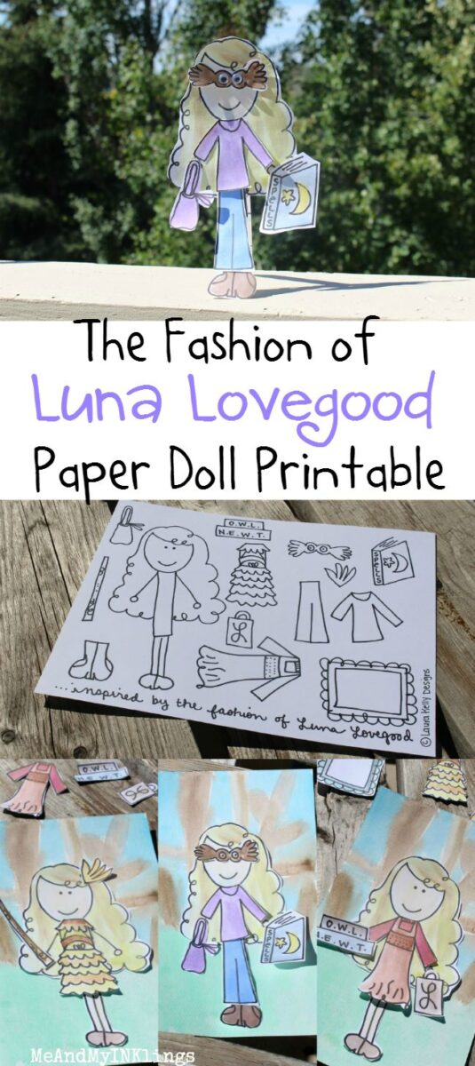 image relating to Luna Lovegood Glasses Printable called Paper Doll Entertaining with Luna Lovegood, My Harry Potter Fave