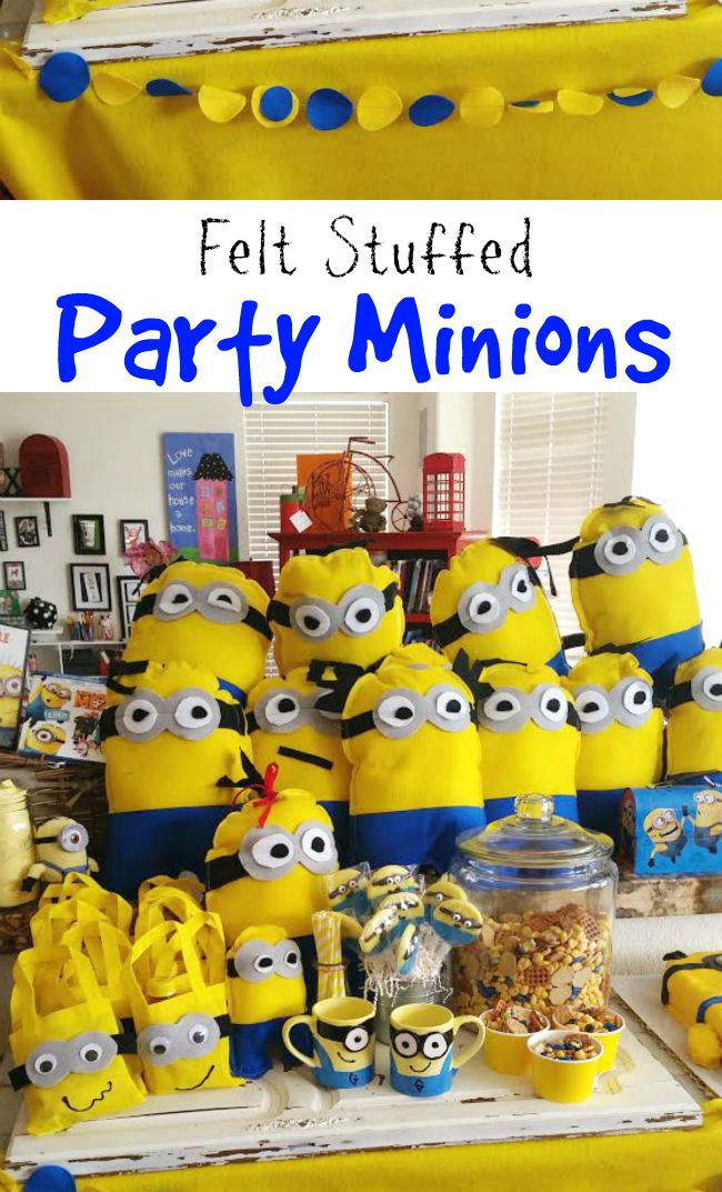 Felt Minion Plush Stuffed Stuffie DIY Despicable Me Character
