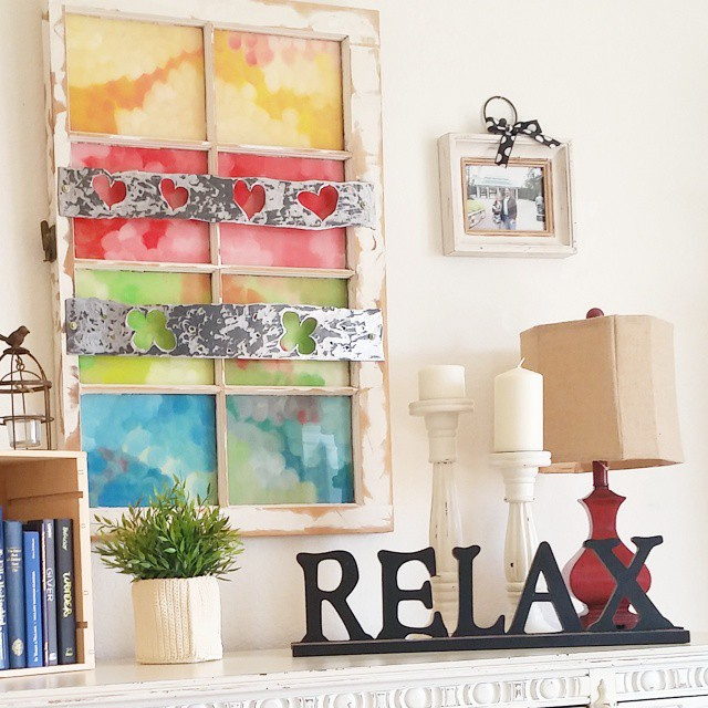 I kind of love this salvaged and repurposed window! homedecorhellip