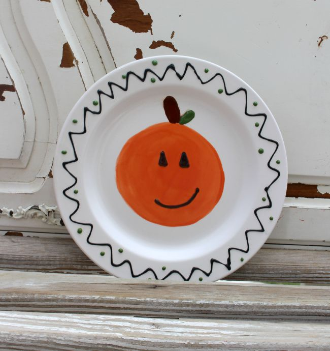 Pumpkin_Plate_Cereamic_Duncan