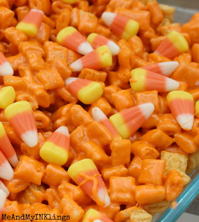 Candy Corn Treat Bars and Free Printable