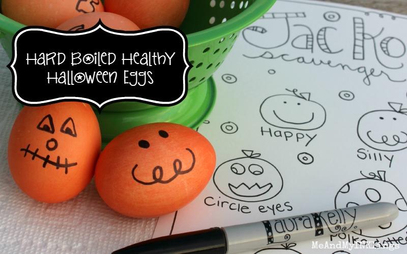 Hard Boiled Jack-O Eggs for Halloween