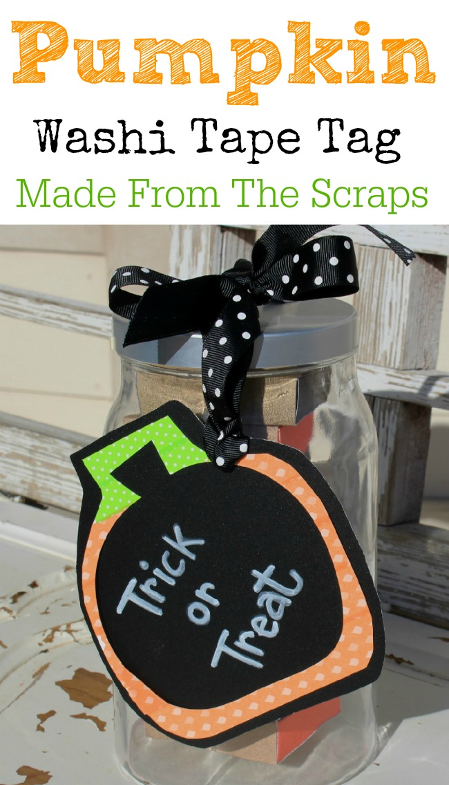 Washi Tape Pumpkin Tag