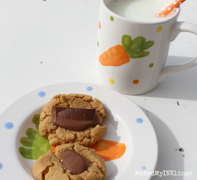 Easter Bunny Chocolate Cookies with Milk