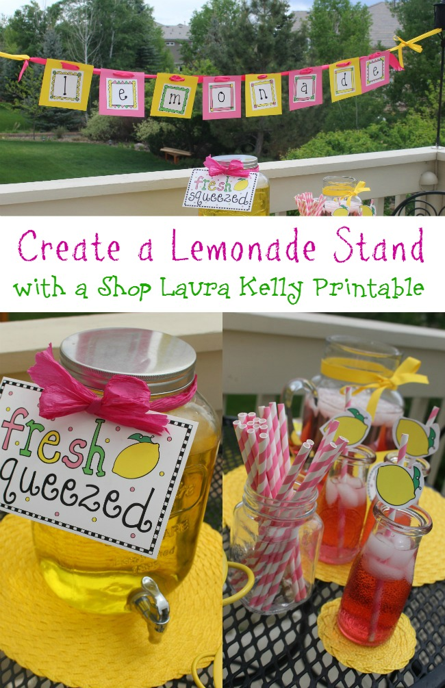 Lemonade Stand Printable Party from Laura Kelly Designs