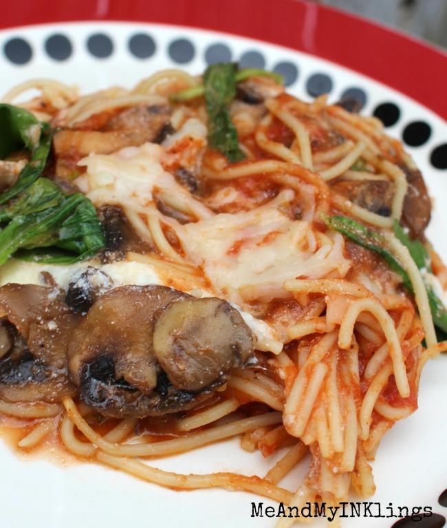 Spaghetti Supreme Spinach Mushroom Pasta