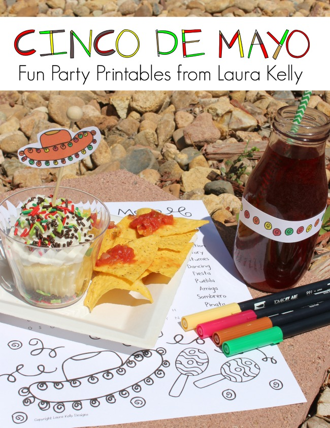 Cinco De Mayo Printable for Parties by Laura Kelly Feature