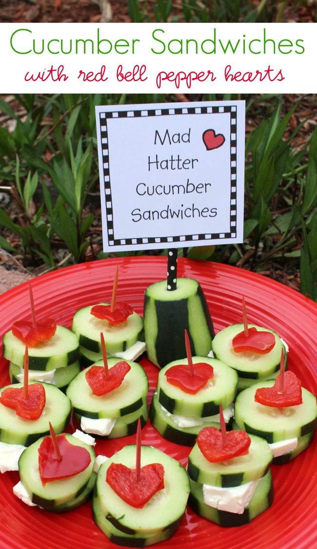 Cucumber Sandwiches with Laughing Cow