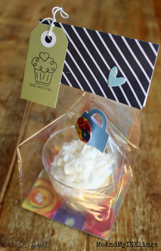 Fancy Pants Cupcake Packaging with Tombow and Expressionery