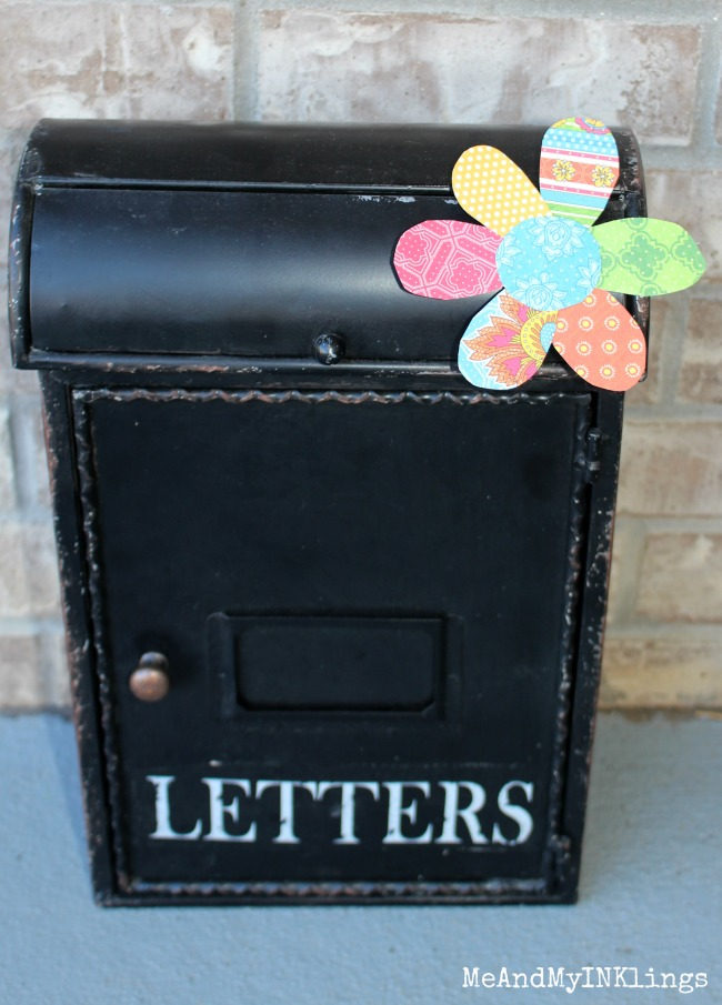 Paper Crafted Flower on World Market Mailbox
