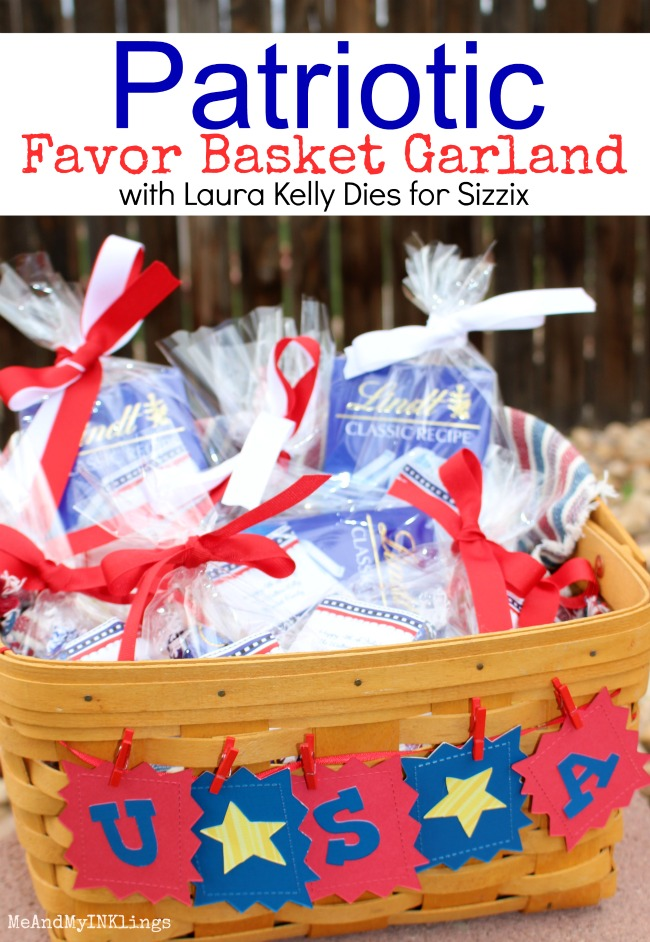 Patriotic Garland for Favor Basket Sizzix