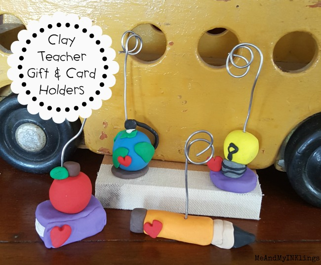 Sculpey Teacher Gift and Place Card Holders