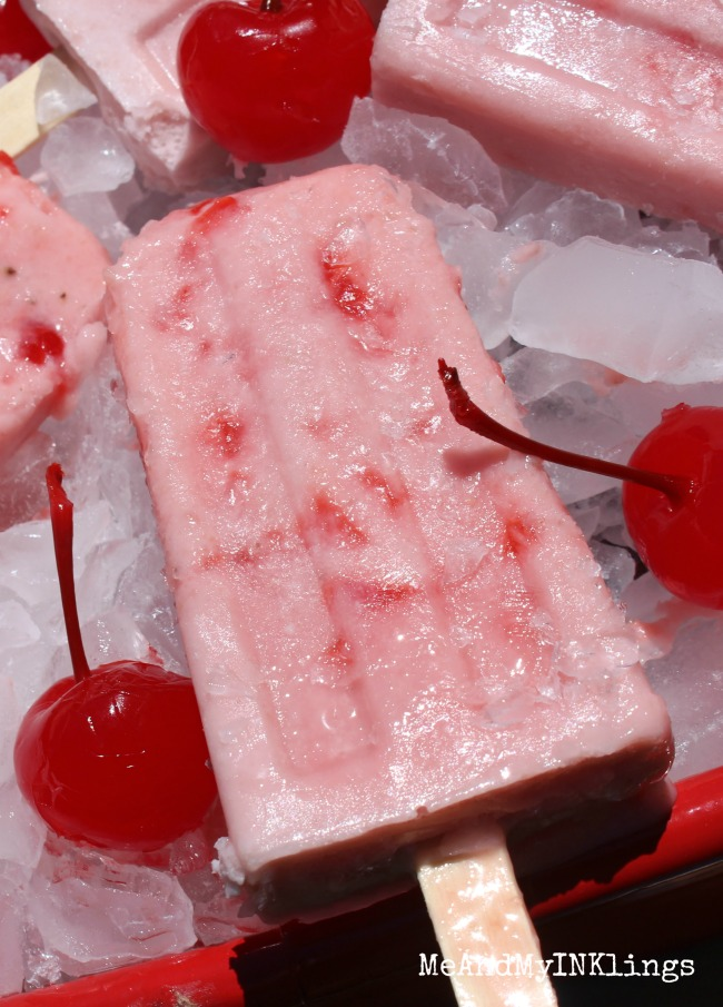 Cherry Man Banana Popsicle