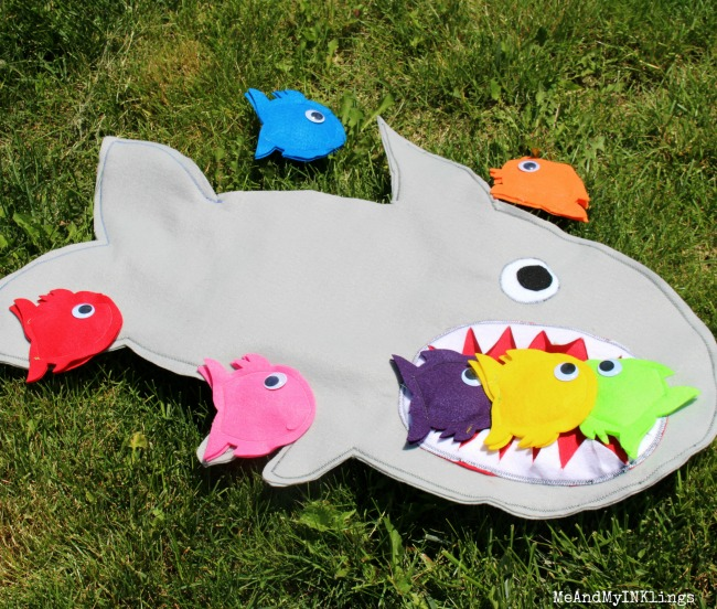 Shark Game Beanbag Toss Scoring