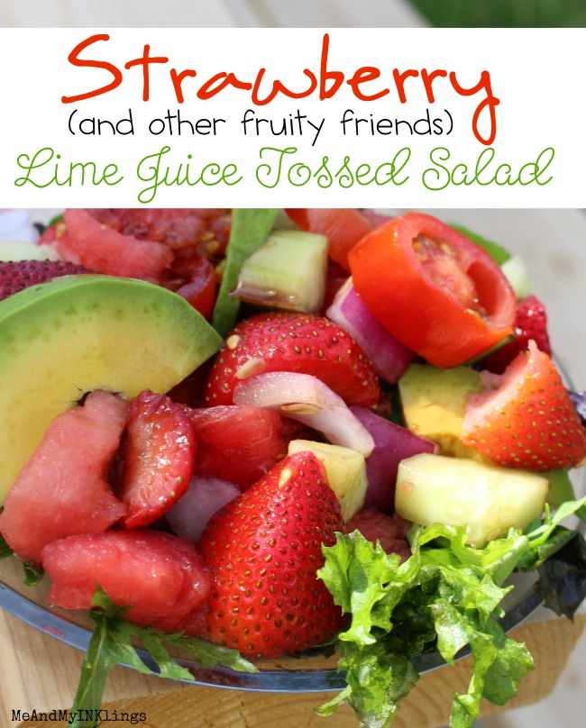 Strawberry Lime Juice Tossed Salad