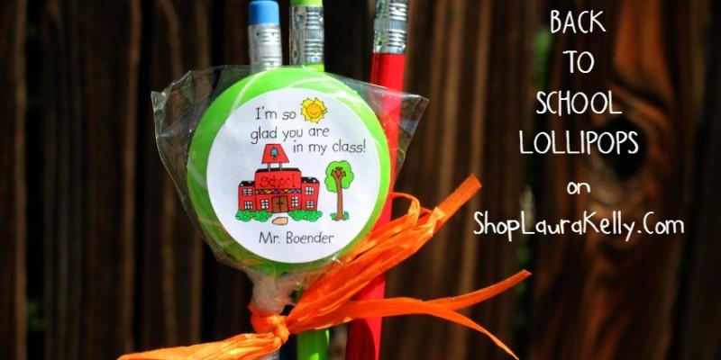 Back to School Lollipops