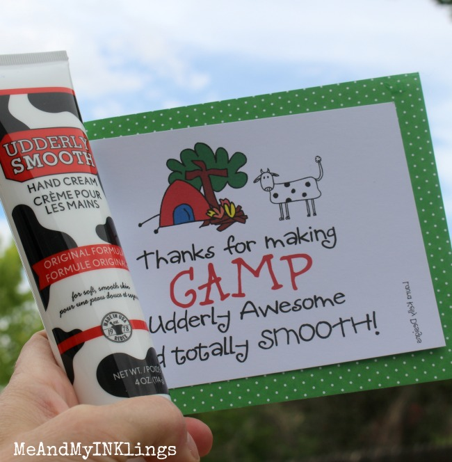Udderly Smooth Camp Printable