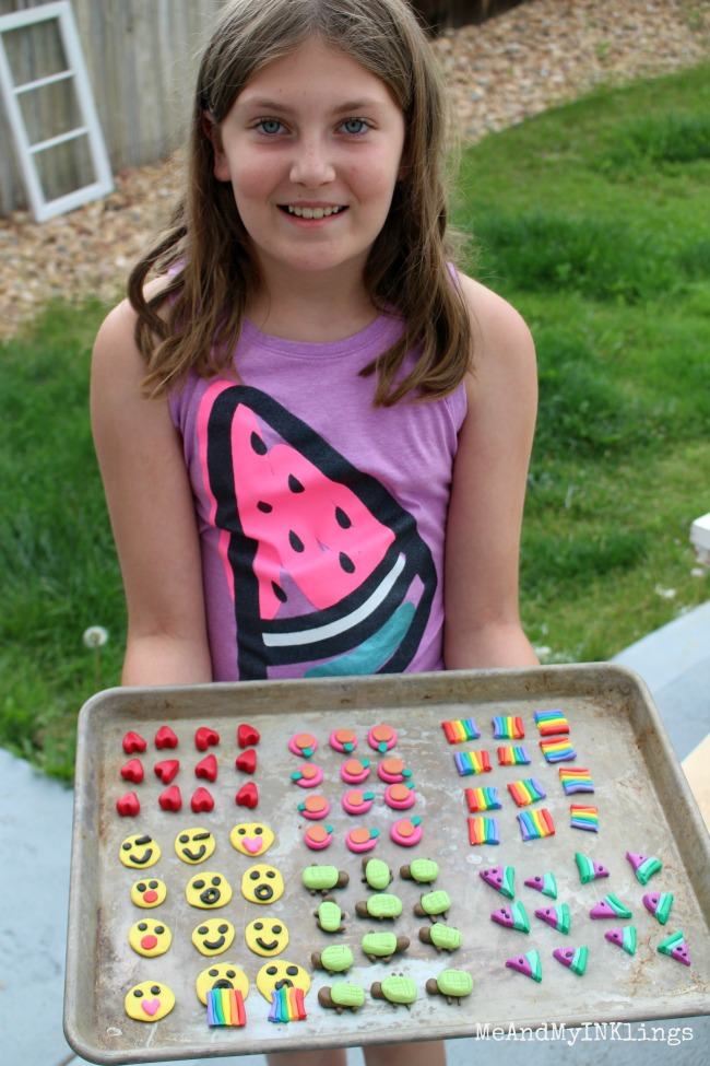 Zoe with Sculpey Clay Game Pieces