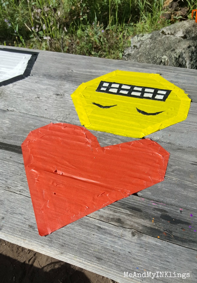 Heart and Emoji Masking Tape Art