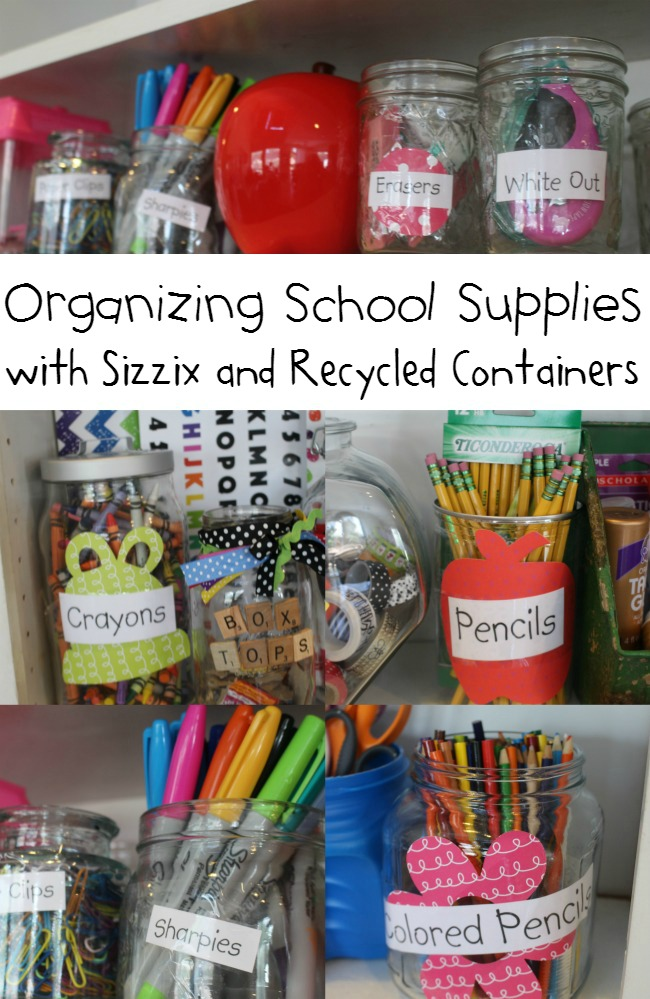 Organizing School Supplies in Random Containers