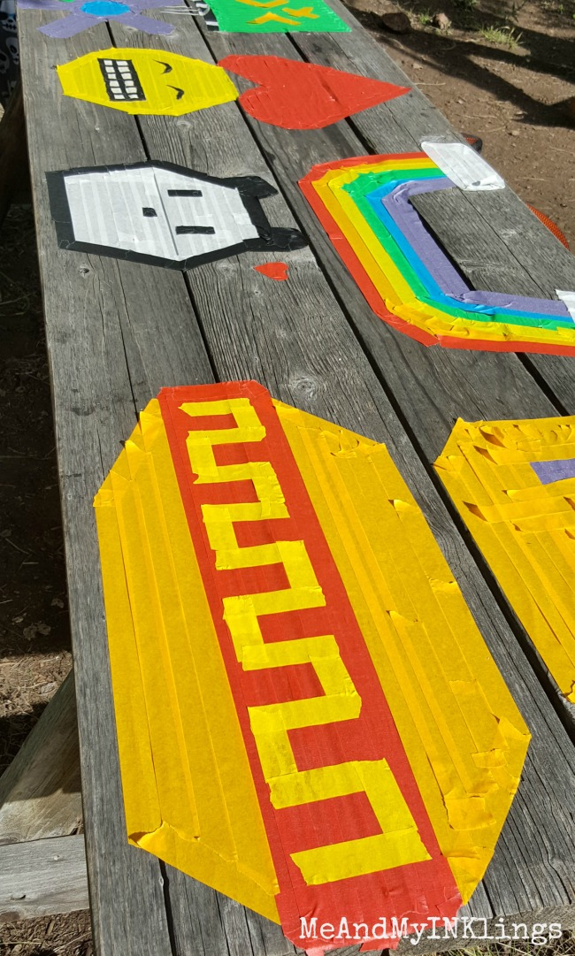 Picnic Table Masking Tape Art