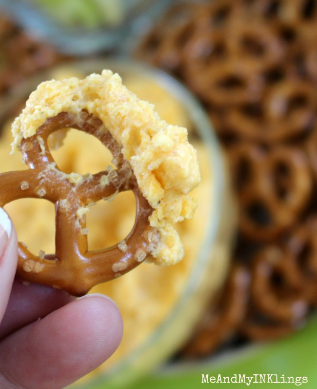 Beer Cheese on Pretzels