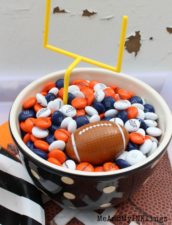 Broncos M and Ms in bowl