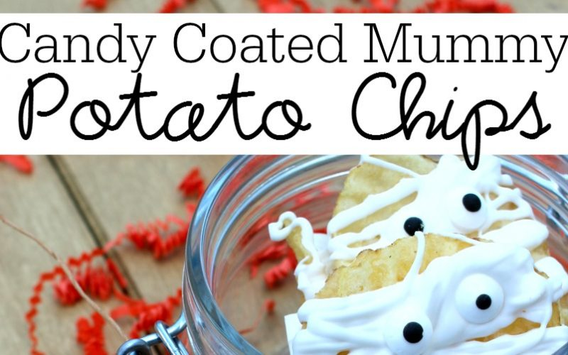Candy Coated Mummy Potato Chips