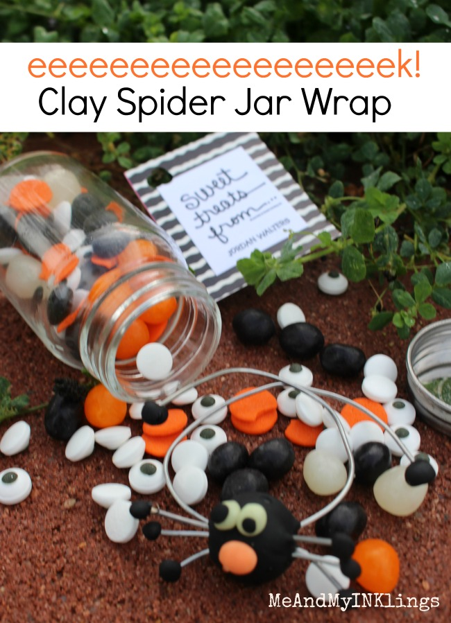 Clay Spider Candy Jar Wrap